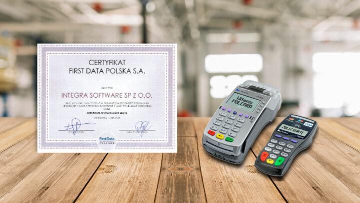 certyfikat first data polcard dla integra