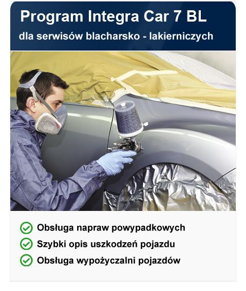 program do serwisu blacharsko lakierniczego Integra Car 7 BL