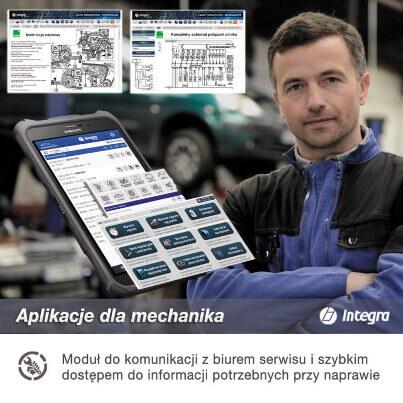 aplikacja dla mechanika do warsztatu Integra PDS
