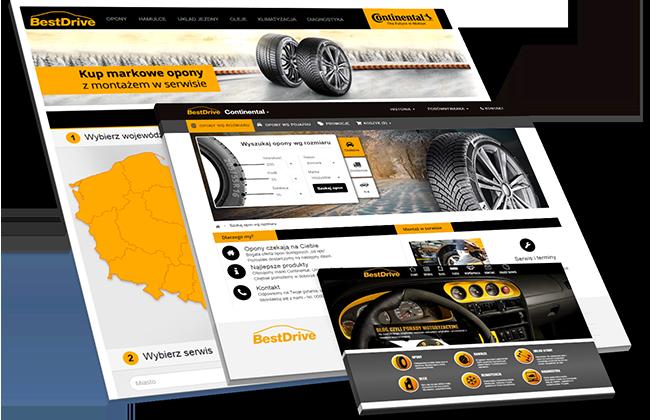 Platforma internetowa sprzedaży opon BestDrive.