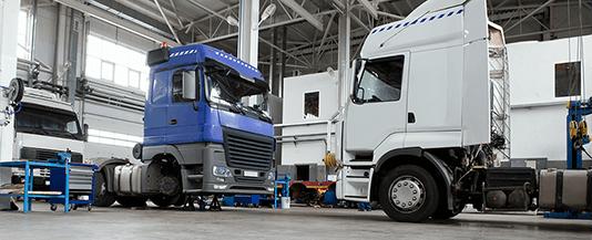 Serwis pojazdów ciężarowych.