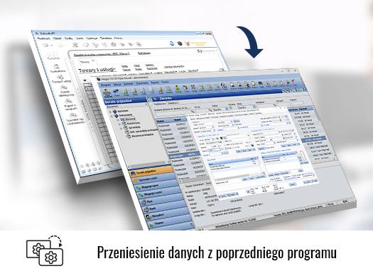 Przeniesienie danych z poprzedniego programu.