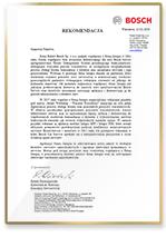 Rekomendacja od firmy Bosch