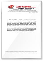 Rekomendacja AutoPartner