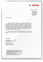 Rekomendacja Robert Bosch sp. z o.o.