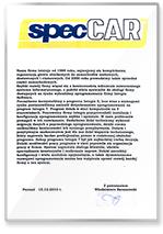 Rekomendacja specCAR